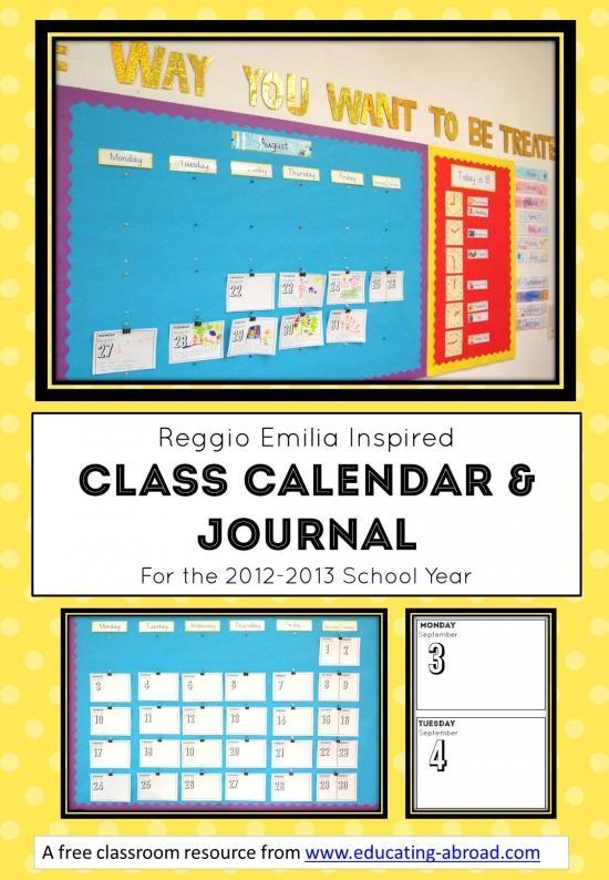 Reggio Emilia inspired calendar and journal.