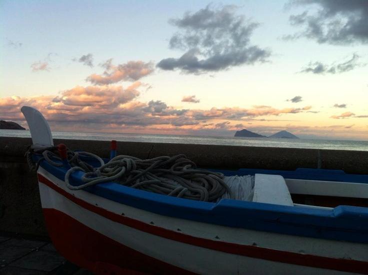 Lipari  Aeolian Island  sea