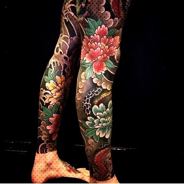 Traditional Horimono Irezumi Kitsune Drawing Sleeve Yakuza Tebori Wabori Flower Design Sketch Geisha Leg Tattoos Japanese Tattoo Full Body Tattoo