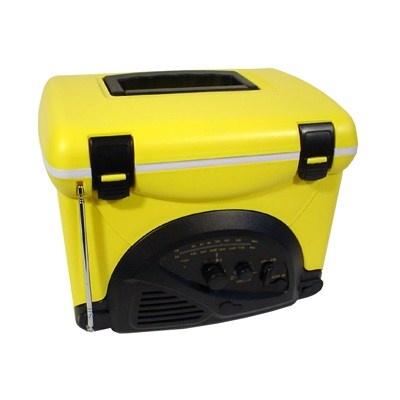 Mini cooler radio AM/FM ideal p/ pescaria, camping e praia-R$85.40