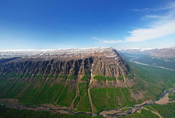 Плато Путорана, на полуострове Таймыр в северной Сибири