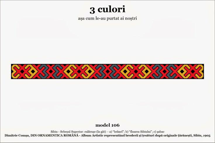 Romanian 3 colour motifs - Sibiu 1905