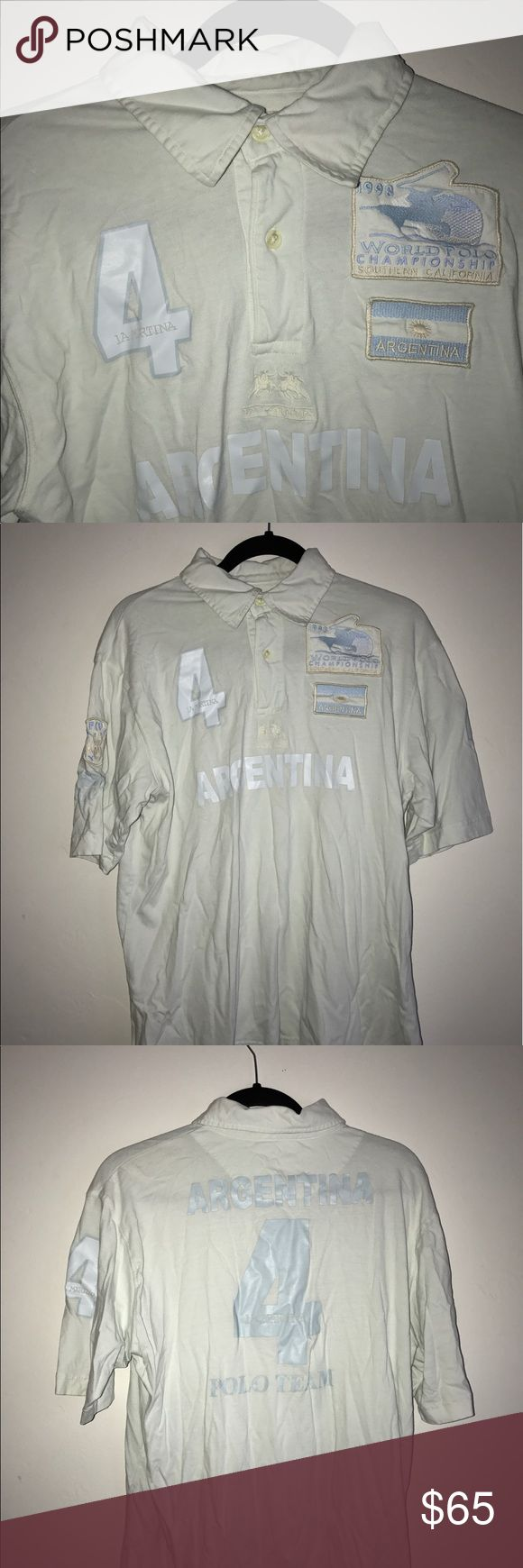 VINTAGE 1998 La Martina Polo Jersey Argentina Team 100 % Authentic Vintage Jersey from 1998 Polo world championship in Southern California! Excellent condition, no rips, holes or stains. Size XXL but runs small more like L or XL La Martina  Shirts Polos