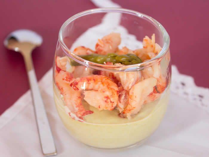 Verrine asperges vertes et crevettes au thermomix. Voici une recette de Verrine asperges vertes et crevettes, facile et simple à préparer au thermomix.