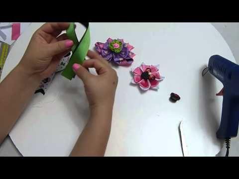 Flores en cinta para decorar lazos mo os accesorios para - Cintas para decorar ...