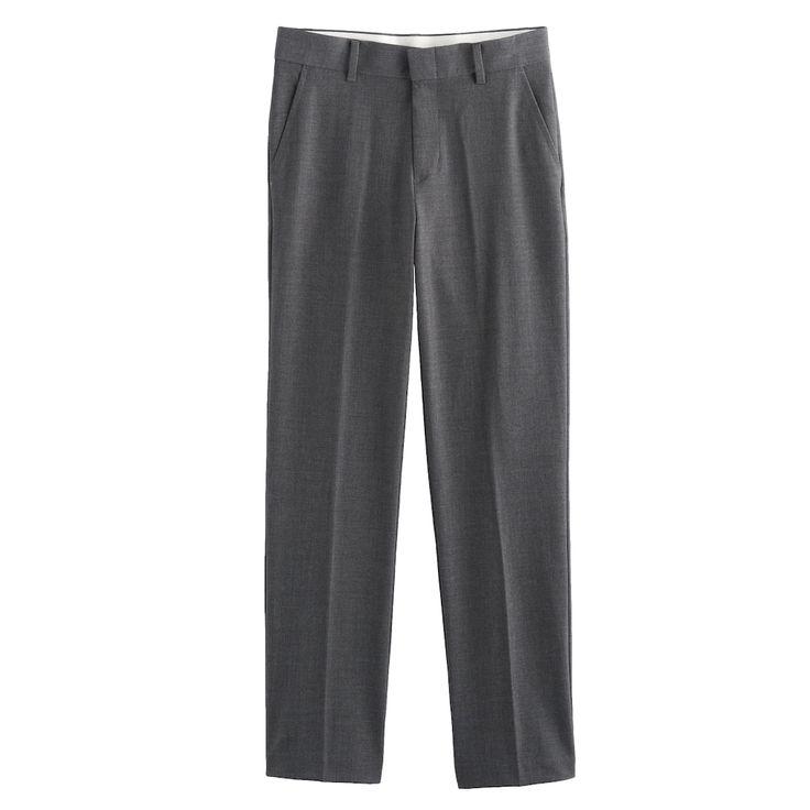 Boys 4-20 Chaps Basic Pants, Size: 18, Dark Grey