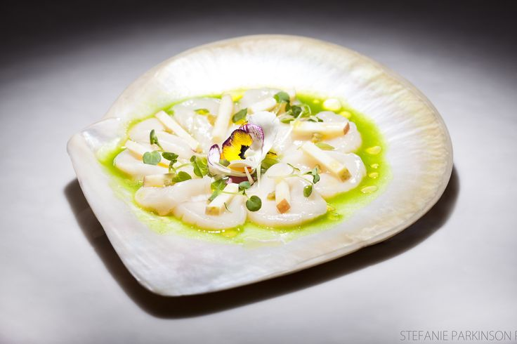 Scallop Sashimi by Chef David Lespron for Katsuya of Hollyowod photographed by Stefanie Parkinson