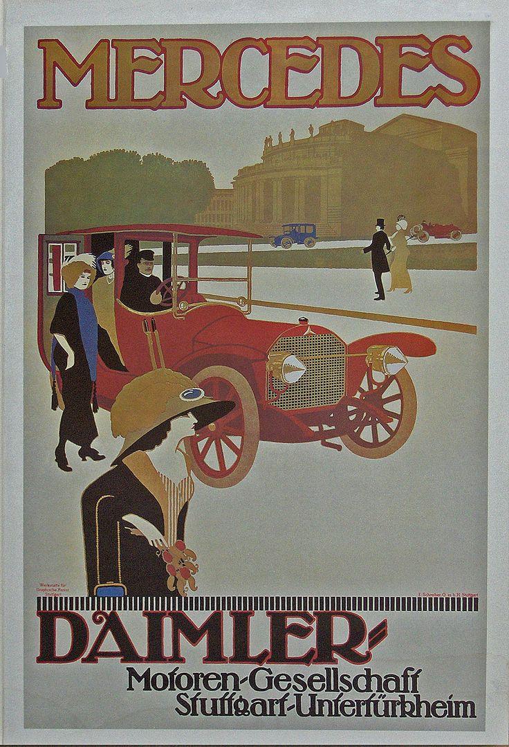 Daimler Motoren Gesellschaft poster for a Mercedes Double Phaeton