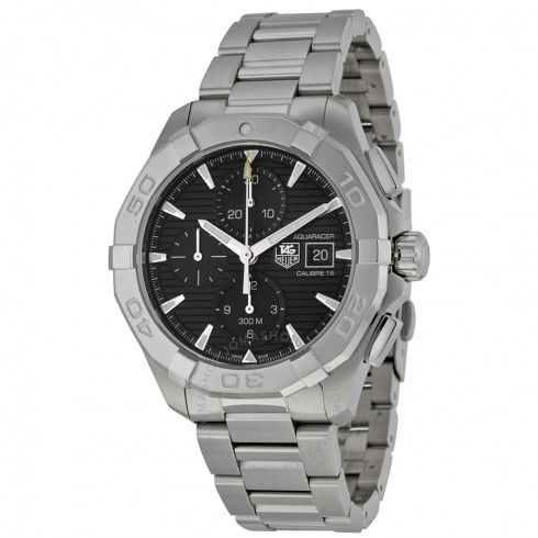 Tag Heuer Aquaracer Black Chronograph Dial Automatic Men's Watch CAY2110.BA0925 - Aquaracer - Tag Heuer - Watches  - Jomashop
