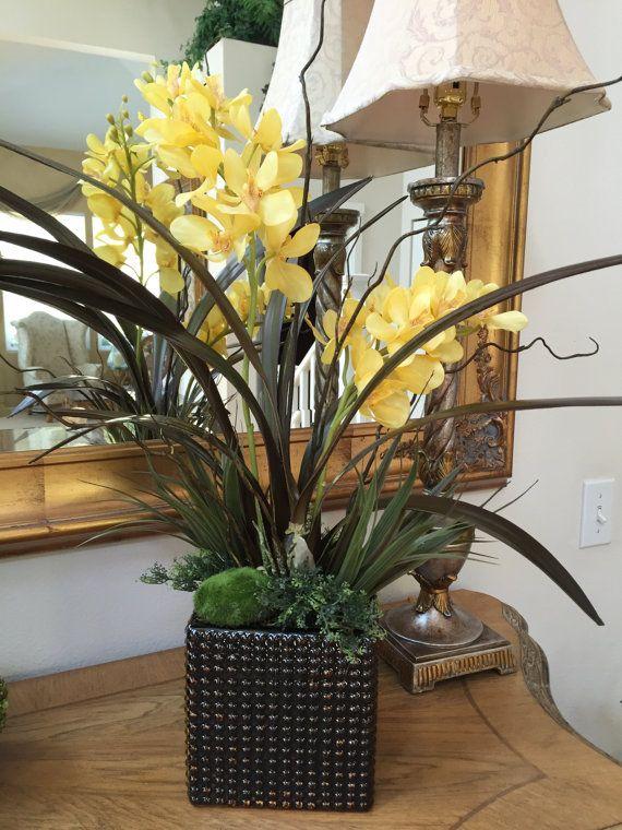 Artificial Orchids Silk Orchid Arrangements Tropical