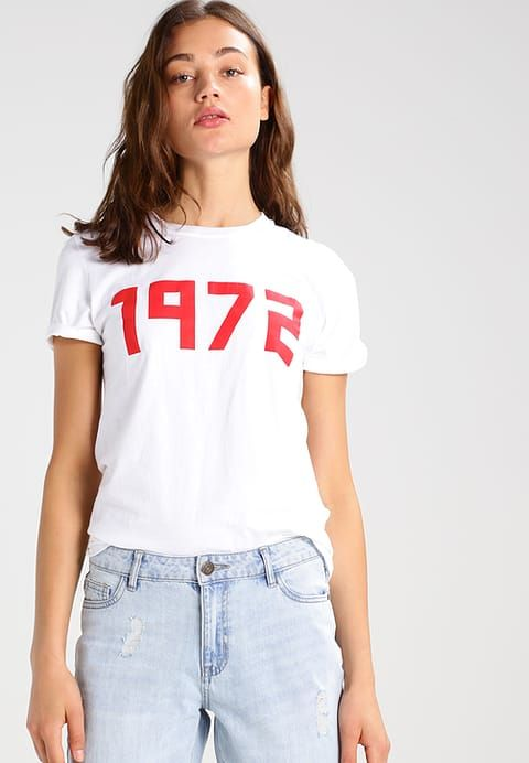 Topshop 1972 - T-shirt z nadrukiem - white - Zalando.pl