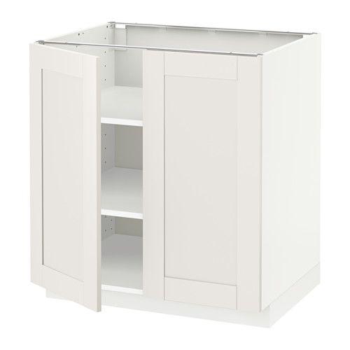METOD Skříňka/police/2 dveře IKEA Díky nastavitelným policím si vnitřní prostor upravíte podle vašich potřeb. Masivní konstrukce rámu, tloušťka 18 mm.