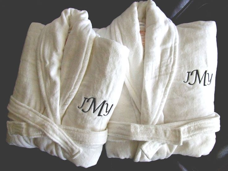 monogramed his and her robes for the honeymoon our special day pinterest the o 39 jays. Black Bedroom Furniture Sets. Home Design Ideas