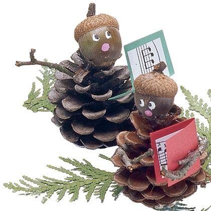 Holiday Craft: Pinecone Carolers