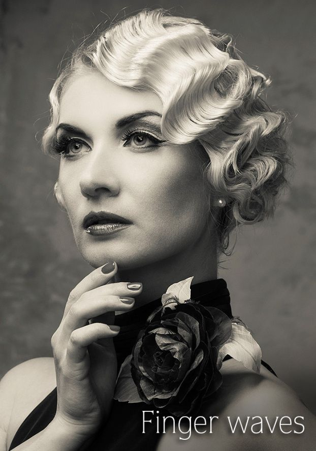 Nothing says vintage glamour like finger waves. If you're wearing ...
