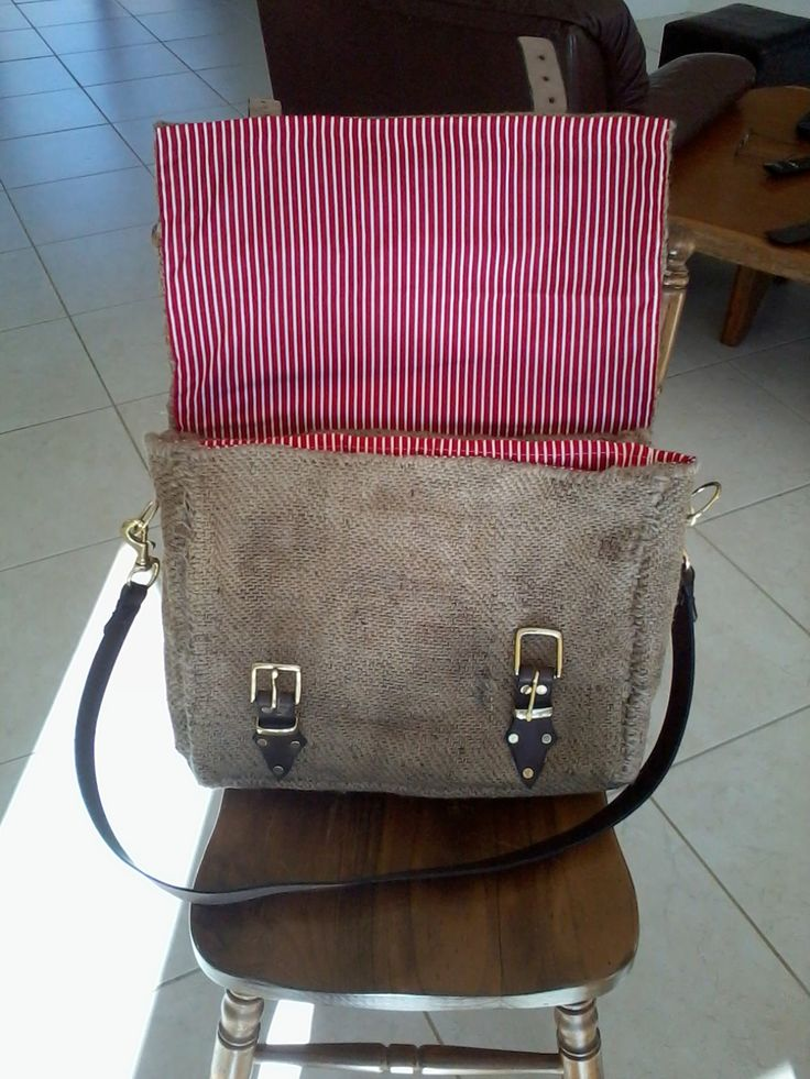 Hessian Briefcase.  Designed and Produced by Emily Rogers.
