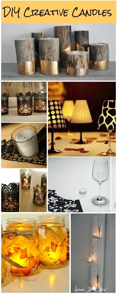 DIY Creative Candles • Ideas and tutorials to learn how to make candles and candleholders!