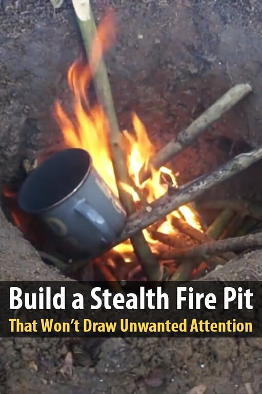While you can't stop the smell, smoke, and light of an open fire completely, it's possible to minimize it by digging a Dakota fire hole.