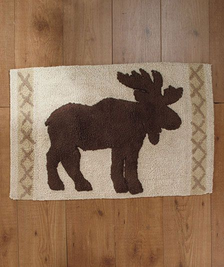 Moose Bath Rug: Lodge Bath Collection