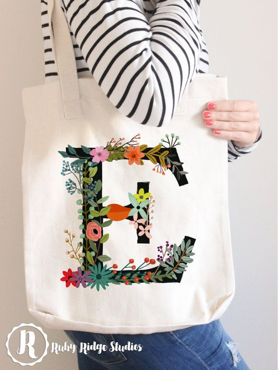 Hey, I found this really awesome Etsy listing at https://www.etsy.com/listing/232450927/personalised-floral-monogram-tote-bag