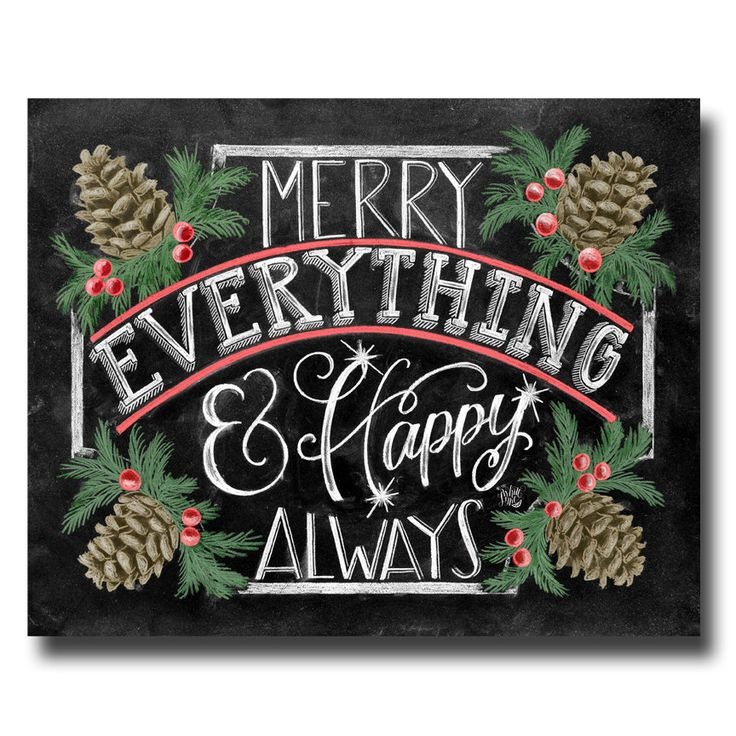 Holiday Sign, Merry Everything Happy Always, Chalkboard Art, Chalk Art, Christmas Decor, Pine Cones, Christmas Art by TheWhiteLime on Etsy https://www.etsy.com/listing/254749919/holiday-sign-merry-everything-happy