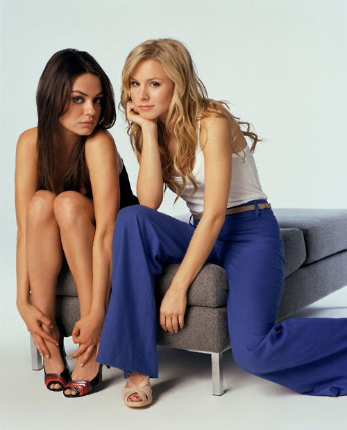 Mila Kunis and Kristen Bell. Two of my top lady crushes.