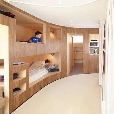 Modern Kids Bunk Beds in a Cabin