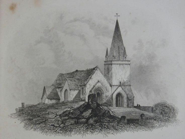 Vale Church, (St. Michel du Valle),1840. Drawn by Robert Mudie.