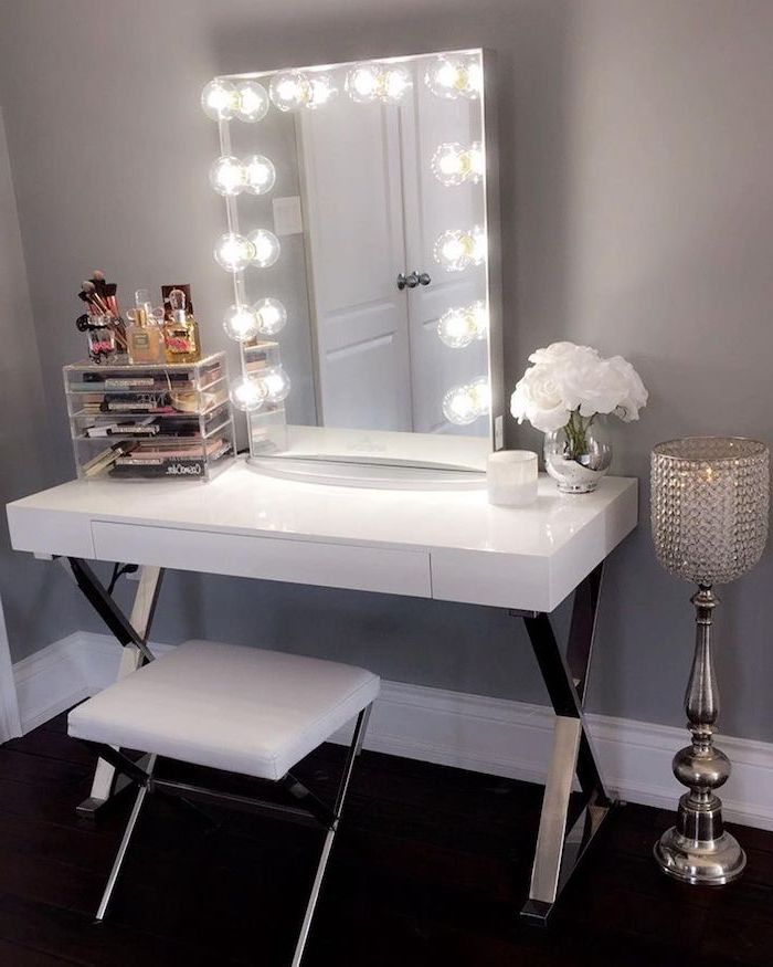 1001 Makeup Vanity Ideas To Create Your Very Own Beauty Salon In 2020 Home Decor Bedroom Makeup Vanity Makeup Vanity