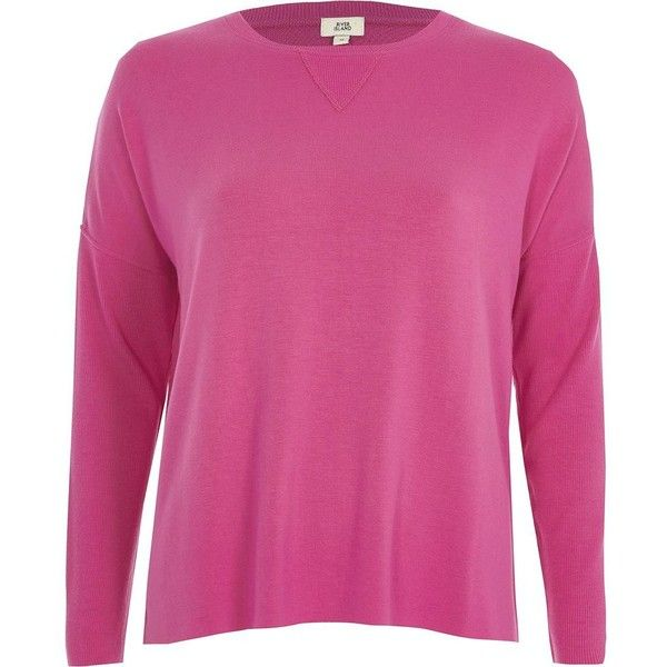 River Island Bright pink ribbed sleeve sweatshirt (195 SAR) ❤ liked on Polyvore featuring tops, hoodies, sweatshirts, hoodies / sweatshirts, pink, women, pink hoodie, tall hoodies, sweatshirt hoodies and long sweatshirt