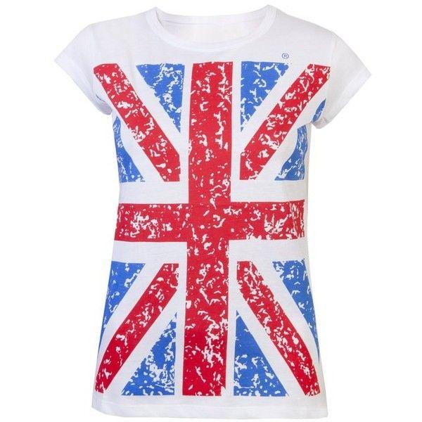 Womens Tops Ladies T Shirts Union Jack Tee Shirts GB Flag London... (125 NOK) ❤ liked on Polyvore featuring tops, t-shirts, union jack top, union jack t shirt, british flag t shirt, red t shirt and british flag tee