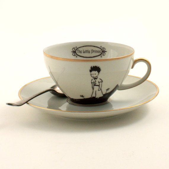 Altered The Little Prince Quote Cup Saucer by MoreThanPorcelain
