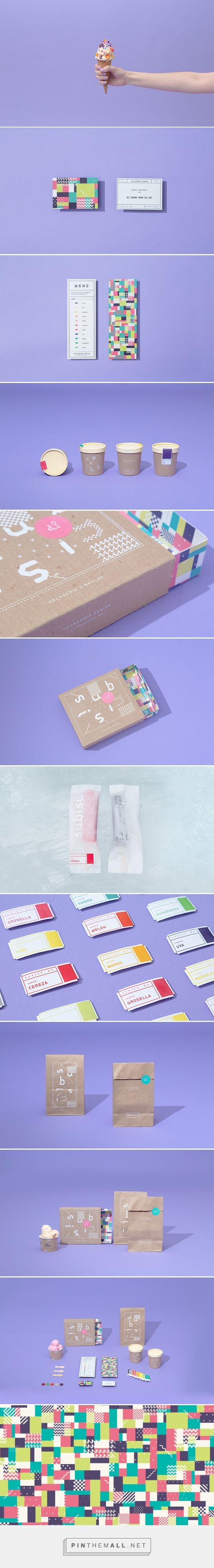 Subisú ice cream brand by Futura