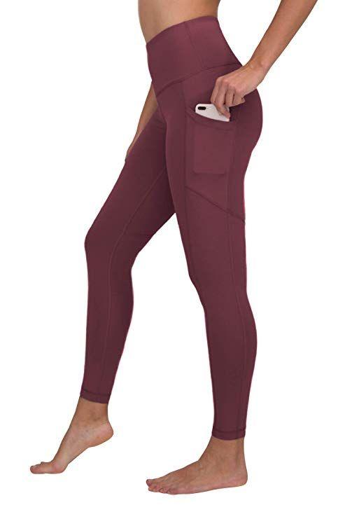 8291a3d7ee 90 Degree By Reflex High Waist Interlink Yoga Pants - Vintage Magenta -  Medium