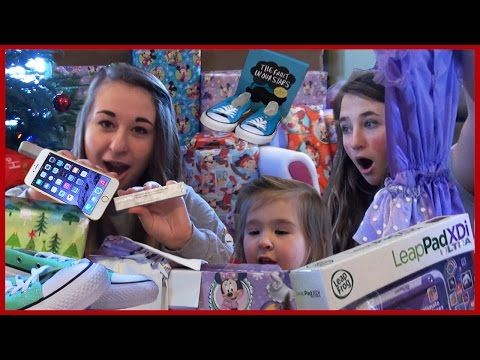 Kids Opening Christmas Presents - Monster High Girls - Baby Fun Day 2014 - Christmas Gift Ideas Review