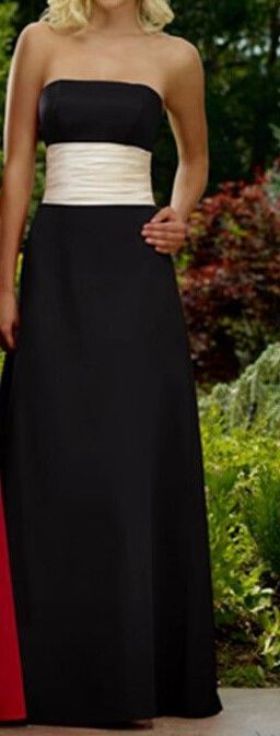 Strapless satin Bridesmaid Dress with Sash bling brides bouquet - online bridal store