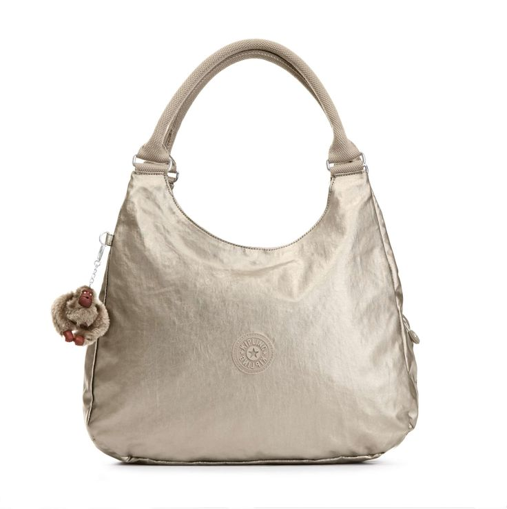 Bagsational Metallic Handbag - Metallic Pewter | Kipling