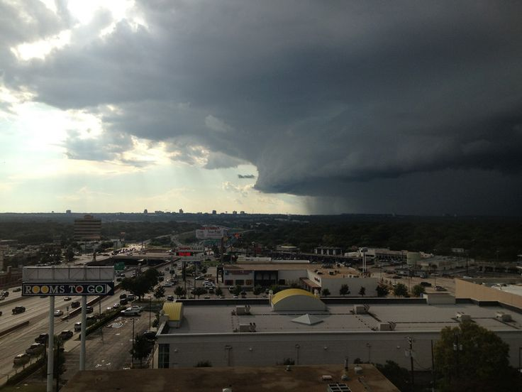 Approaching storm in San Antonio, Tx 0ctober 1, 2012