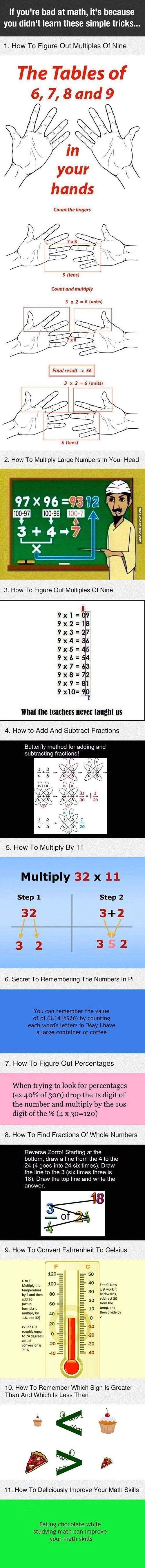 If You're Bad At Math, Its Because You Didn't Learn These Simple Tricks math interesting life hacks hacks tricks good to know #mathhacks #mathtricks