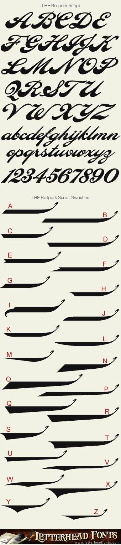 Letterhead Fonts / LHF Ballpark Script font set / Vintage Script Fonts