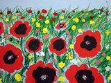 Artsonia Art Exhibit :: 2nd Gr. Poppy Field Paintings Inspired by the Wizard of Oz (Mottola)