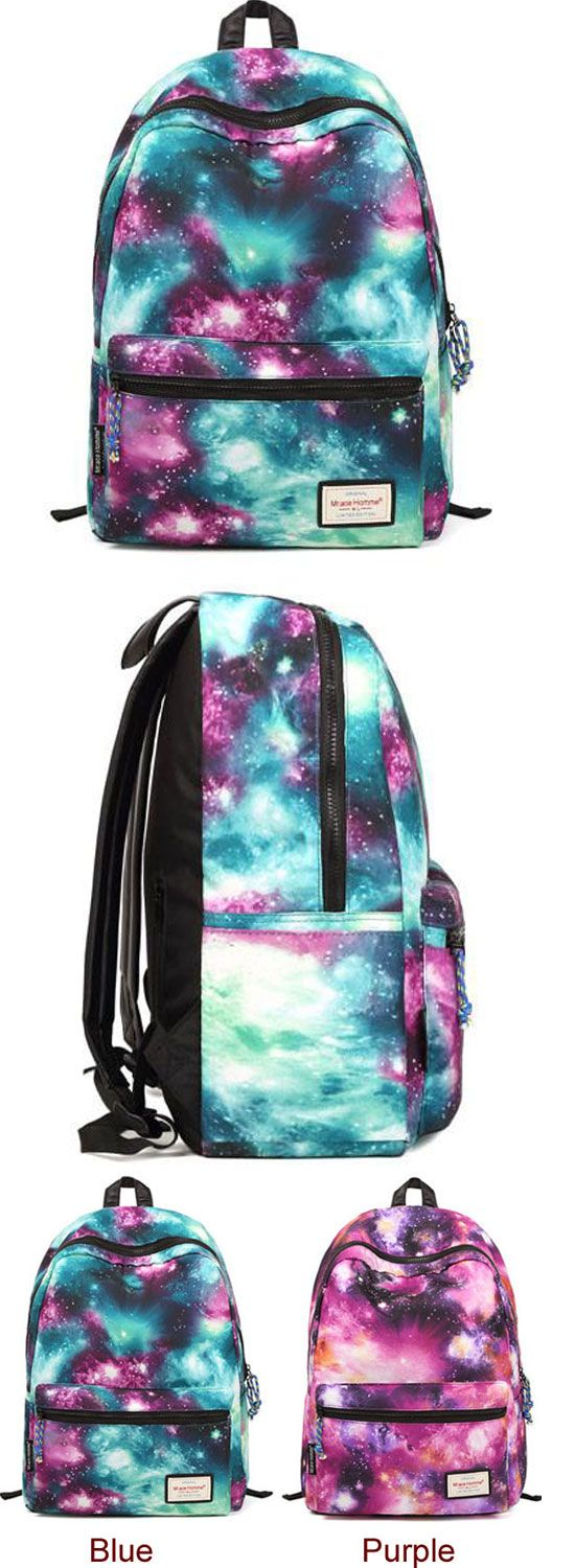 Vintage Galaxy Colorful Couple Waterproof Backpack School Bag for big sale! #galaxy #Backpack #Bag #college #student #fashion
