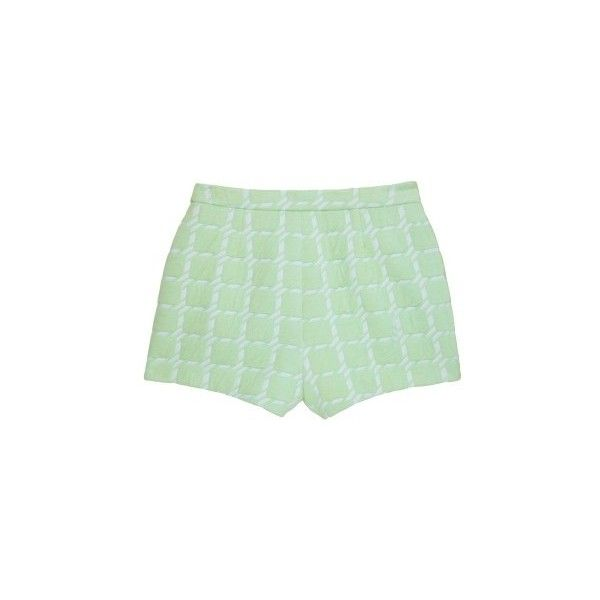 T by Alexander Wang Mint Mid Rise Shorts (13.365 RUB) ❤ liked on Polyvore