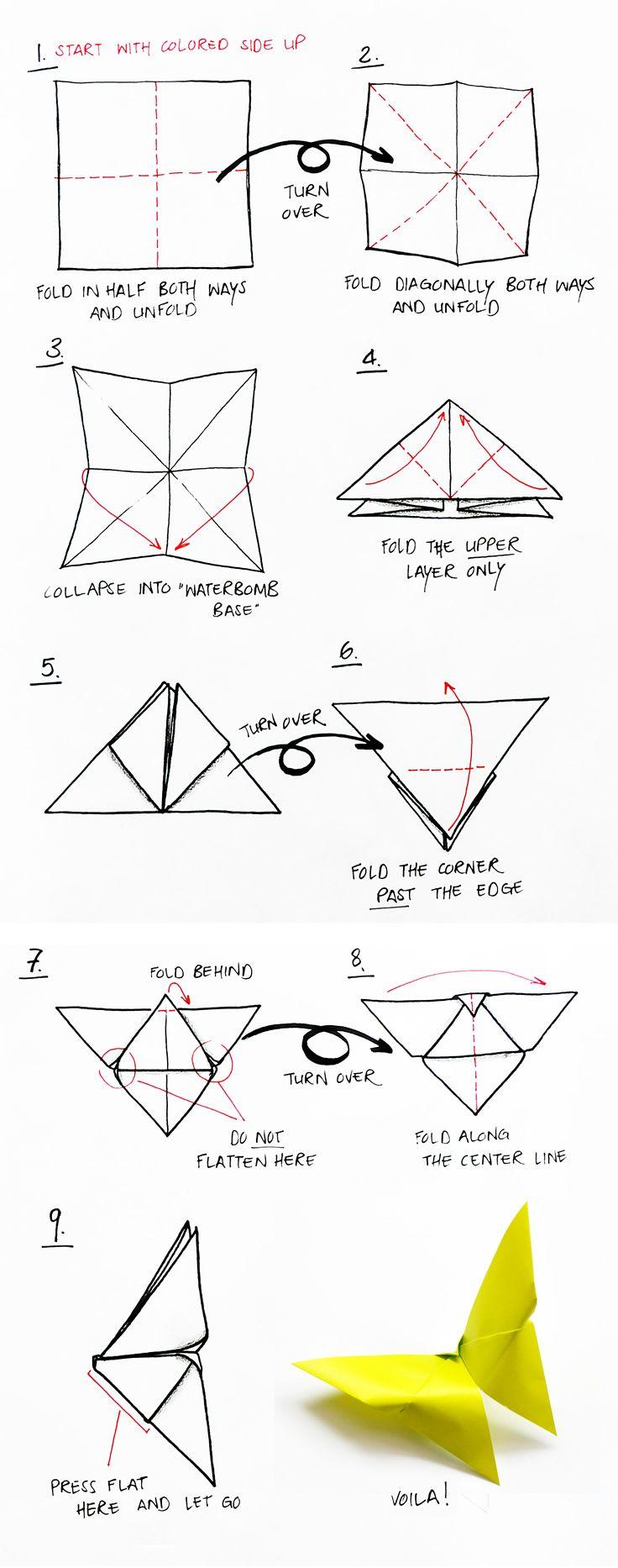 origami-butterfly-DIY | peppermintblog.com