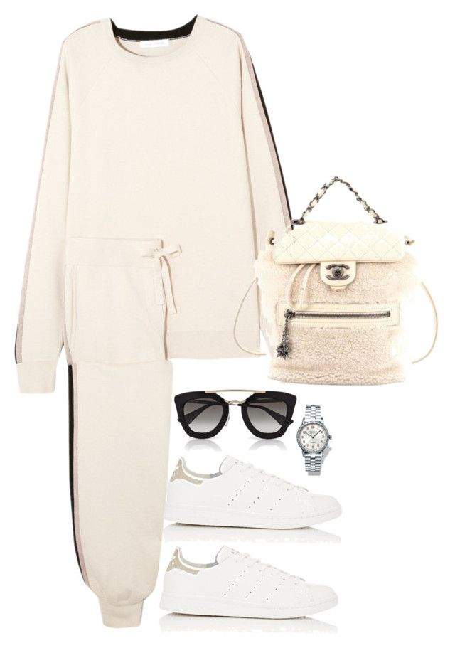 Unbenannt #2203 by luckylynn-cdii on Polyvore featuring moda, Olivia von Halle, adidas, Chanel, Tiffany & Co. and Prada