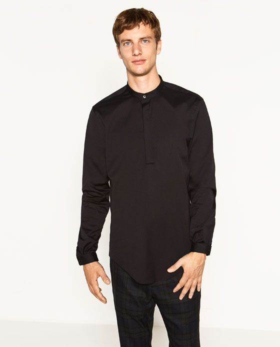 Image 2 of MANDARIN COLLAR SHIRT from Zara