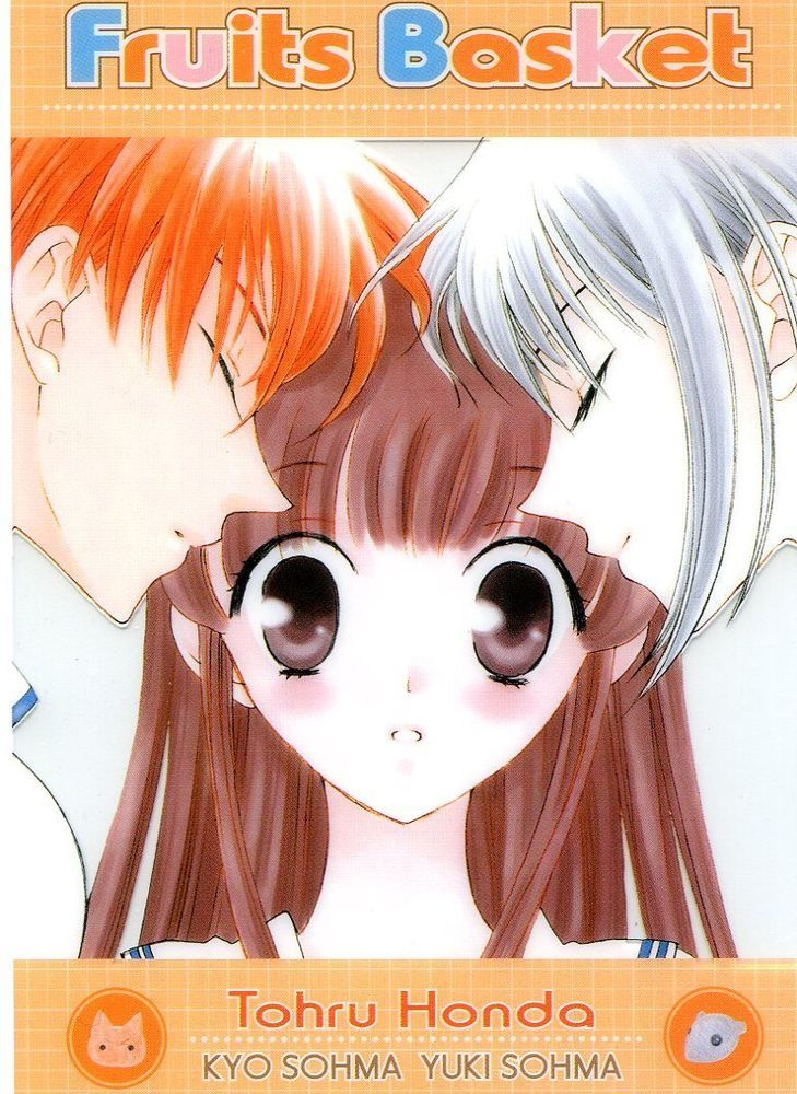 Anime / Manga /Artist Fruits Basket character Honda Tohru , Sohma yuki , Sohma kyo. Description origin official item from Japan size Approx. 5-7/8 ×4 inch , approx. 15 × 10 cm type clear plastic postcard.