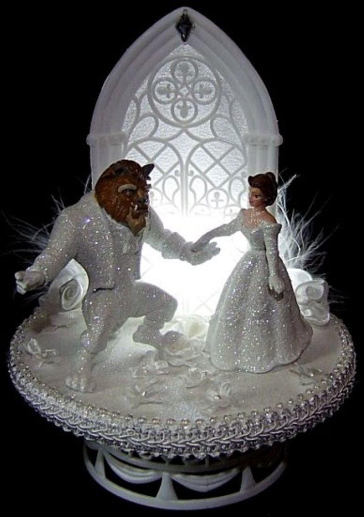 disney fairytale wedding cake server lighted and the beast wedding cake topper 13552