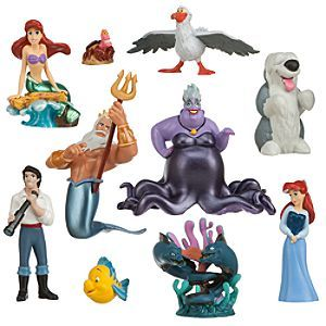 Disney The Little Mermaid Deluxe Figure Play Set   Disney StoreThe Little Mermaid Deluxe Figure Play Set - From mysterious fathoms below comes the cast of Disney's animated classic, The Little Mermaid, in this deluxe 10 figure set that will provide hours of imaginative play ''under the sea'' and beyond.