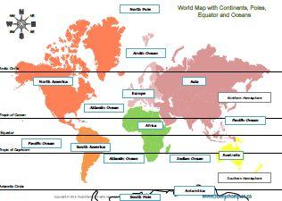 Social Science : Gr4 World Map